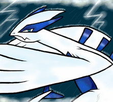 Lugia by Meant2BeGone