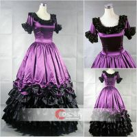Round Collar Satin Ruffled Classic Lolita Dress by wendywei2012