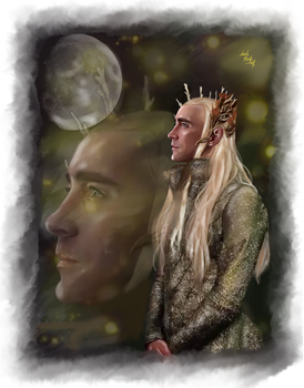 Thranduil -Moonlight on Mirkwood by LadyMintLeaf