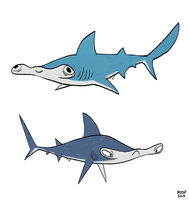 Hammerheads by sketchinthoughts