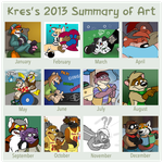 2013 Summary of Art by Kresblain