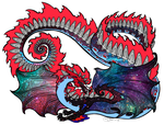 red galaxy dragon 2 by Japanese-Snap-Dragon
