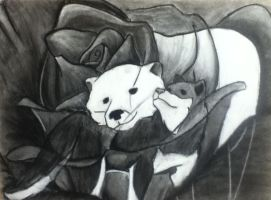 Drawing: Story of a Bear and Wolf by sarahsmiles916