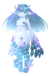 Ice stone girl floating physic crystal thing by ProofMe