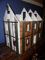 Second Foam Core Dollhouse WIP 7 Front View by kayanah