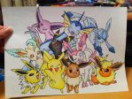 Eevee and Friends Promo Poster- FOR SALE by sazmullium