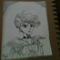 Inktober 22- Sailor Uranus by Lance-Danger