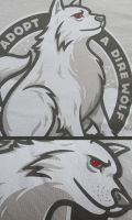 Adopt A Dire Wolf print detail by Winter-artwork