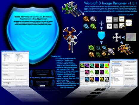 W3IR v1.3.1 promotional design by blackdoom