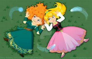 Merida and Eilonwy by MaryBellamy