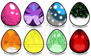 Big Cat Egg Adopts -SOLD- by Queens-Adoptibles