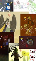 TOUHOU -- sketchdump by static-mcawesome