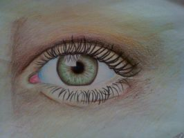 Eye made with my new pencils! :'D by XeVitAAAx