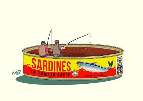 Fishing Tomato Sardines by mclelun