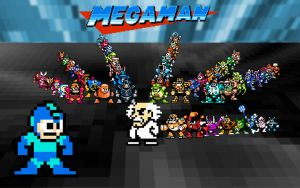 Classic Mega Man wallpaper by Notuom