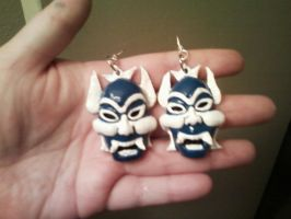 BlueSpirit Earring Commission by gunslingergal