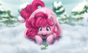 Pinkie. Winter. Snowdrop! by AmiShy