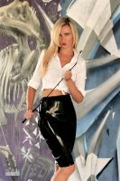 Danca Black Zipskirt White Blouse 03 by malkiss