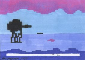 Empire Strikes Back Atari Game by HalHefnerART