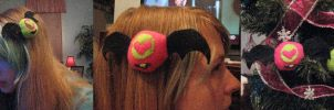 Krazy Koromori Plush Hairclips by HottieHulio