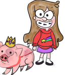Gravity Falls: Mable and King Waddles by AlicornMoonstar