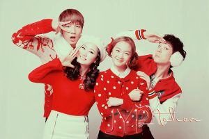 JYP Nation This Christmas 2 by RozaChan