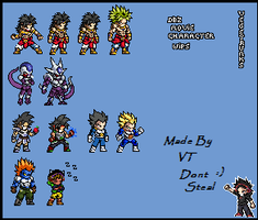 Dragon ball Z movie characters by VTK