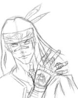 Shaman King: Silva -Sketch- by Mistur-Musik