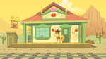 MLP: Braeburn at Appleloosa station by FloppyChiptunes