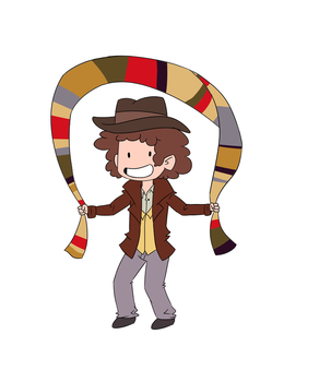 Scarf Skip! (Doctor who - animated) by ScribbleCate