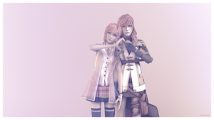Lightning and Serah Farron by Lil-Lintu
