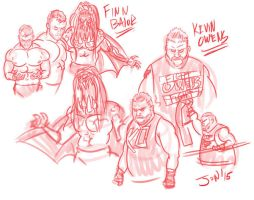 Balor-Owens-Warmup by JonDavidGuerra
