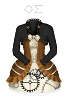 steampunk lolita dress by enguerrand