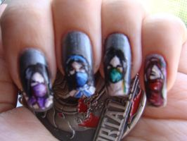 Mortal Kombat nails (the ladies-closer look) by BbyCashfLow
