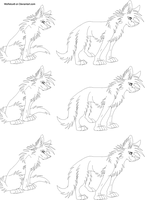 Free Wolf Puppy Lineart 5 by Wolfieluv6