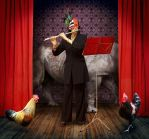 concert for 2 cocks by LeQuernez