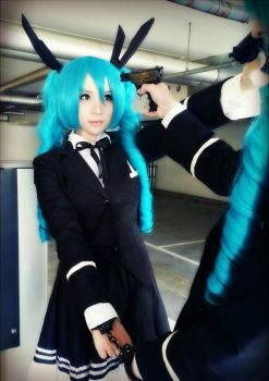 Hatsune Miku (Secret Police) by AzunaKohana