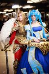 Kayle and Sona - League of Legends cosplay by morgoth87