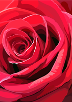 Red lovely Rose Vector by elviraNL