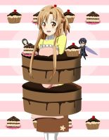 .: SAO : Asuna in a cake :. by Sincity2100