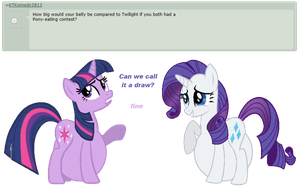 Ask Rarity question #12 by RarityVore