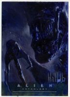 alien anthology oil sketch card 10 by charles-hall