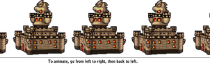 Bowser's Inside Story: Bowser's Castle Side View by ShadicStudios
