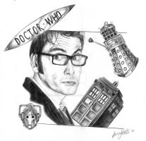 David Tennant and Dr Who by girlinterruptedbyart