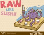 RAW LIKE SUSHI Free Wallpaper by ExoesqueletoDV