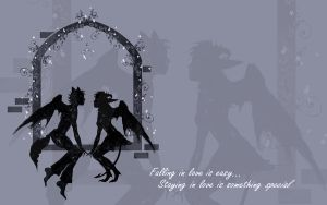 Falling and Staying -Wallpaper by rockgem
