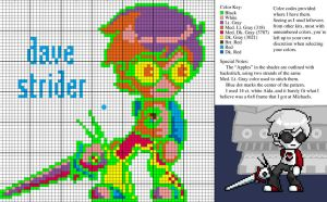 Dave Strider X-Stitch Pattern by imacrazytrekkie