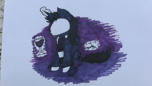 Copic markers - Pony and wine by GingaAkam