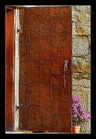 Doors To Old  Church (Covered With Sheet Metal) by skarzynscy