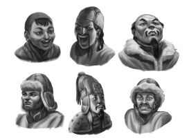 Mongol portraits by Iboltax